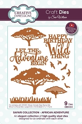 Sue Wilson Designs - Die - Safari Collection African Adventure