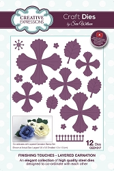 Sue Wilson Designs - Die - Finishing Touches Collection Layered Carnation
