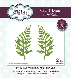 Sue Wilson Designs - Die - Finishing Touches Collection Fern Fronds