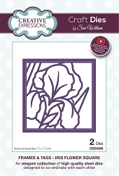 Sue Wilson Designs - Die - Frames & Tags Collection Iris Flower Square