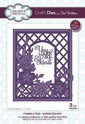 Sue Wilson Designs - Die - Frames & Tags Collection Garden Delight