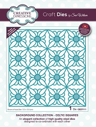 Sue Wilson Designs - Die - Background Collection Celtic Squares