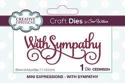 Sue Wilson Designs - Die - Mini Expressions - With Sympathy