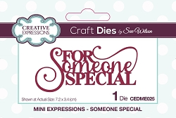 Sue Wilson Designs - Die - Mini Expressions - Someone Special