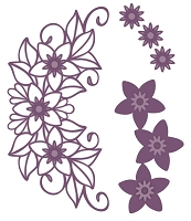 Sue Wilson Designs - Die - Finishing Touches Collection - Star Flower Cluster