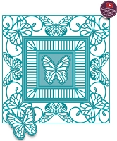 Sue Wilson Designs - Die - Backgrounds Collection - Butterfly Frame
