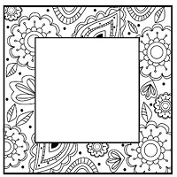 Sue Wilson Designs - Cling Mounted Stamp - Geometric Square