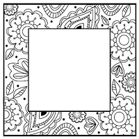 Sue Wilson Designs - Cling Mounted Stamp - Zentangles Flower Square