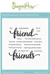 SugarPea Designs - Friendship Sentiments Clear Stamps