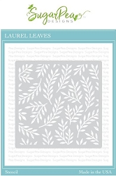 SugarPea Designs - Laurel Leaves  Stencil (6x6)