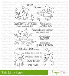 SugarPea Designs - This Little Piggy Clear Stamps