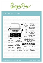 SugarPea Designs - You're My Type Clear Stamps