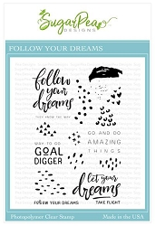 SugarPea Designs - Follow Your Dreams Clear Stamps