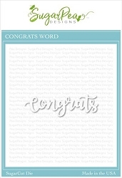SugarPea Designs - Congrats SugarCut