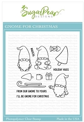 SugarPea Designs - Gnome For Christmas Clear Stamps