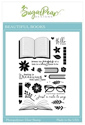 SugarPea Designs - Beautiful Books Clear Stamps