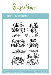 SugarPea Designs - Autumn Blessings Clear Stamps