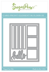 SugarPea Designs - Card Front Element Builder III SugarCut Die