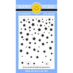 Sunny Studio - Clear Stamp - Cascading Stars