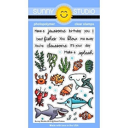 Sunny Studio - Clear Stamp - Best Fishes