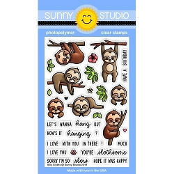 Sunny Studio - Clear Stamp - Silly Sloths