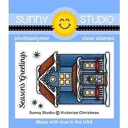 Sunny Studio - Clear Stamp - Victorian Christmas