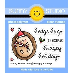 Sunny Studio - Clear Stamp - Hedgey Holidays