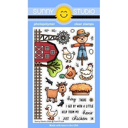 Sunny Studio - Clear Stamp - Farm Fresh