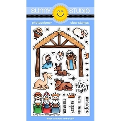 Sunny Studio - Clear Stamp - Holy Night
