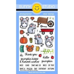 Sunny Studio - Clear Stamp - Harvest Mice