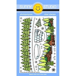 Sunny Studio - Clear Stamp - Winter Scenes