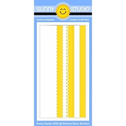 Sunny Studio - Cutting Dies - Slimline Basic Borders