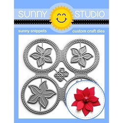 Sunny Studio - Cutting Dies - Window Quad Circles