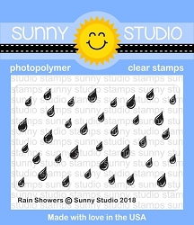 Sunny Studio - Clear Stamp - Rain Showers