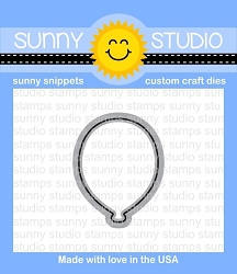 Sunny Studio - Cutting Dies - Birthday Balloon