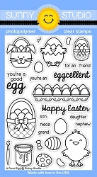 Sunny Studio - Clear Stamp - A Good Egg