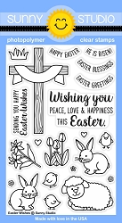 Sunny Studio - Clear Stamp - Easter Wishes