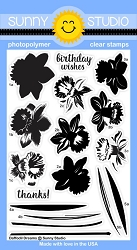 Sunny Studio - Clear Stamp - Daffodil Dreams