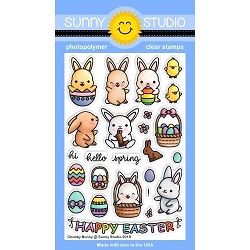 Sunny Studio - Clear Stamp - Chubby Bunny