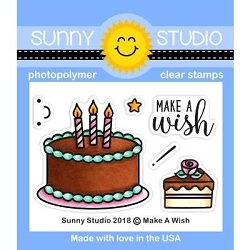 Sunny Studio - Clear Stamp - Make a Wish