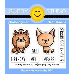 Sunny Studio - Clear Stamp - Puppy Dog Kisses