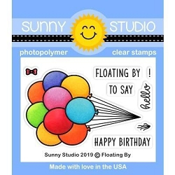 Sunny Studio - Clear Stamp - Floating By