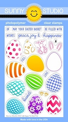 Sunny Studio - Clear Stamp - Eggs to Dye For
