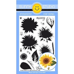 Sunny Studio - Clear Stamp - Sunflower Fields