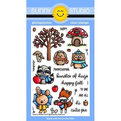 Sunny Studio - Clear Stamp - Woodsy Autumn