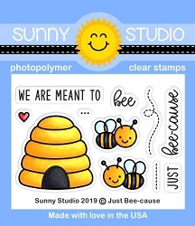 Sunny Studio - Clear Stamp - Just Bee-cause