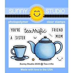 Sunny Studio - Clear Stamp - Tea-riffic