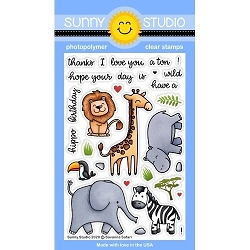Sunny Studio - Clear Stamp - Savanna Safari