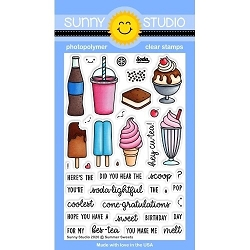 Sunny Studio - Clear Stamp - Summer Sweets