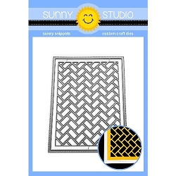Sunny Studio - Cutting Dies - Frilly Frames Herringbone